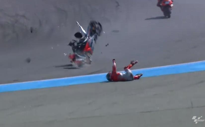 Jorge Lorenzo s-a accidentat dinnou