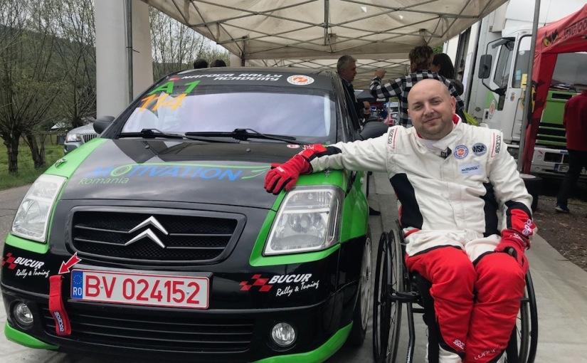 Ciprian Daniel Lupu, primul pilot în scaun cu rotile prezent în Campionatul Național de RaliuriDunlop
