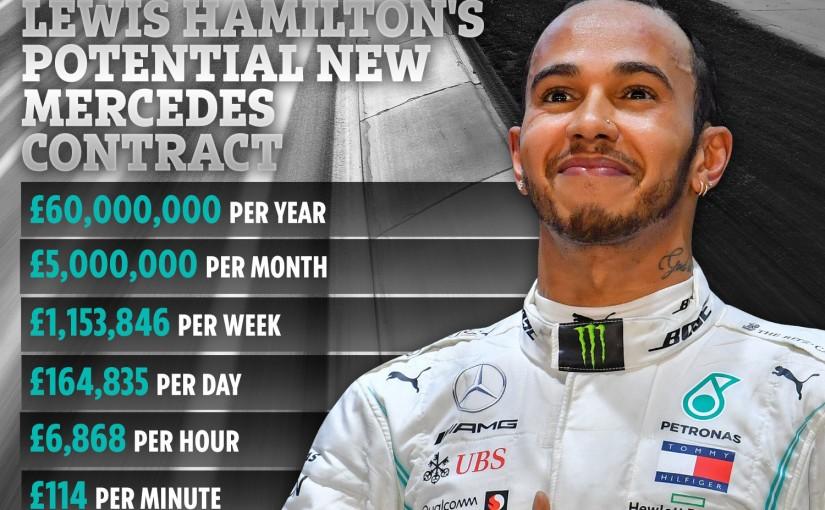 Contract astronomic oferit lui Hamilton pentru următorii 3ani.